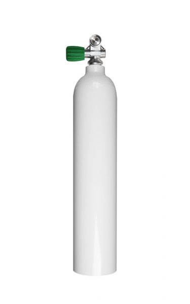 Mono Aluminiumflasche 3 Liter, 230 Bar, Diving Breathing Gas, Ventil Mono EU NITROX