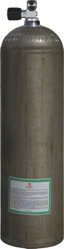 Mono Aluminiumflasche 80cf Silber (Dirty Beast) ( ca. 11,1 Liter ), 207 Bar, Diving Breathing Gas, V