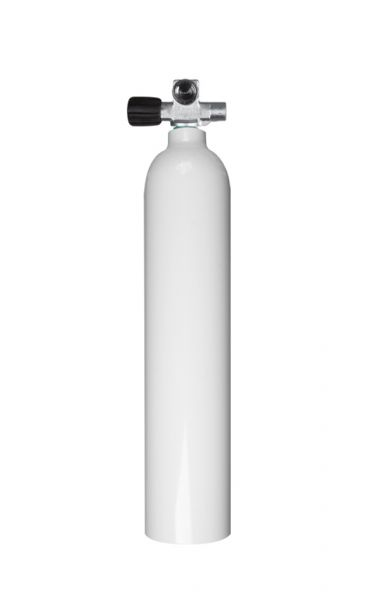 Mono Aluminiumflasche 3 Liter, 230 Bar, Diving Breathing Gas, Ventil Mono LINKS ausbaufähig mit Blin