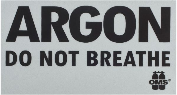 ARGON: DO NOT BREATHE Aufkleber (Stk.)